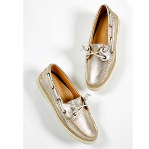 NWOB Women's Sperry Top-Sider A/O Metallic Shoes